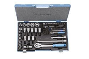 Gedore Knarrenkasten mit 50 Werkzeugen aus Chrom Vanadium.