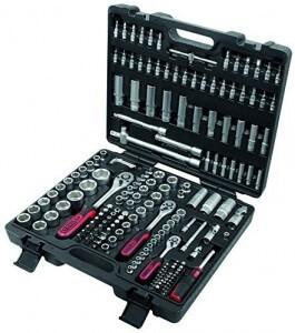 KS Tools Knarrenkasten mit 179 Teilen und schwarzem Kunststoffkoffer