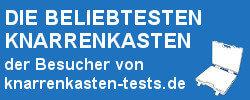 """Bild mit der Aufschrift """"Knarrenkasten Testberichte"""""""