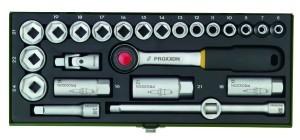 PROXXON 23110 Knarrenkasten, 3/8 Zoll und 24-teilig